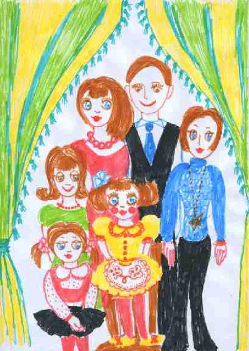 Рисунок своей семьи картинки развивается