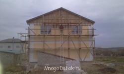 не полностью еще провели отделку фасада помешал мороз - фото -ноябрь прошлого года - IMAG1432.jpg