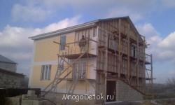 такой будет фасад у дома пока зашиты только 2 стороны морозы не дали закончить  - IMAG1382.jpg