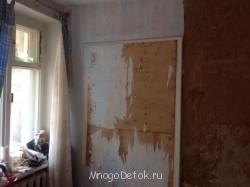 Это бывшая и будущая дверь в нашу комнату, где мы сейчас спим. - image.jpg