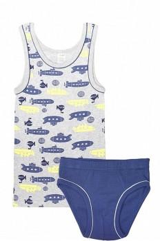 Happywear недорогой и качественный трикотаж для всех. - CC1100_подводныелодки,джинсовый_front.jpg