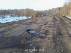 Вот такие мелкие колдобины по дороге между Вереей и Шустиково. - дорога между Вереей и Шустиково.jpg